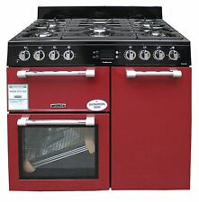 Leisure 90cm Dual Fuel Range Cooker Double Oven CK90F232R Red #2223