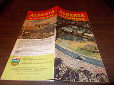 1954 Alberta Province-issued  Vintage Road Map