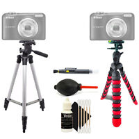 Tall Tripod + Flexible Tripod + Cleaning Accessory Kit for Nikon D5600 and D5500