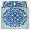 Indian Lotus Mandala Queen Bedding Tapestry Hippie Bed Sheet Pillow Covers