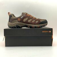 Merrell Mens Ridgepass Hiking Shoes Espresso Brown Lace Up Waterproof 11.5 New