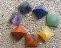 Set-of-7-Chakra-Pyramid-Stone-Set-Crystal-Healing-wicca-NATURAL-spirituality