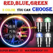 Azul/Verde/Rojo 4Pcs Coche Auto Rueda neumático neumático Vástago de la válvula de aire Cubierta De Tapa De Luz Led