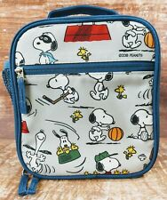 Pottery Barn Kids Mackenzie Classic Lunch Bag Box Peanuts Snoopy Gray Blue
