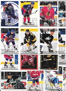 20 NHL TOPPS TRADING CARDS 1995 ALL DIFFERENT, DAVID OLIVER ex GUILDFORD FLAMES