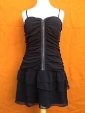 DOTTI  black spaghetti-straps , summer dress, size 12.