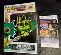 "ALAN OPPENHEIMER Signed ""Masters of Universe ~ MERMAN"" FUNKO POP Vinyl (JSA COA)"