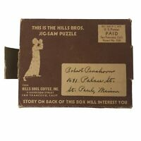 Vintage 1933 Hills Bros. Coffee Jigsaw Puzzle Box Advertising