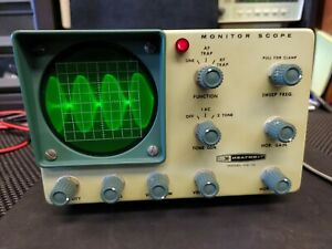 Heathkit HO-10 Monitor Completely tested. Looks fantastic. Scope functions well.