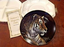 Hamilton Collection Plate 1993 Siberian Tiger Artist Martiena R. Richter 8""
