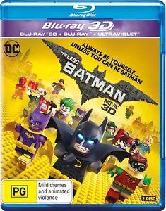 The LEGO Batman Movie 2017:  NEW Blu-Ray 3D / 2D / UV