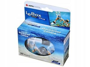 AGFA AgfaPhoto Le Box Ocean disposable Single Use Underwater Camera (UK Stock)