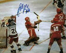 GFA Miracle on Ice Goalie Olympic JOHN HARRINGTON Signed 8x10 Photo COA