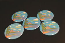 Lot of 5 Margaritaville Buttons pins Irregular Free S/H Jimmy Buffet parrothead