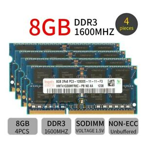 32GB 4x 8GB 4GB DDR3 1600MHz PC3-12800S 204Pin SODIMM Laptop Memory Hynix Lot BT