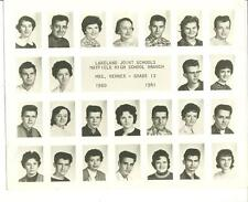 1960-61 Lakeland Joint Schools Mayfield Pa. grade 12 photo NAMES Mrs. Rehner
