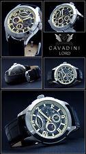 Cavadini Calendar Men's Automatic Watch Lord, Caliber Miyota 9100, Black Gold