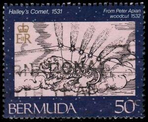 """BERMUDA 480 (SG505) - Halley's Comet """"Peter Apian Woodcut, 1532"""" (pa72784)"""
