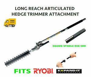 TITAN Hedge Trimmer Attachment Articulated Fits Ryobi Expand-It Power Head