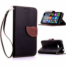Fashion Leather Card Flip Wallet Case Stand Cover For Nokia lumia Lenovo Phone