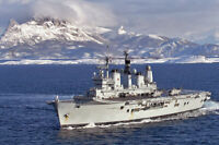 HMS ARK ROYAL EXERCISE ARMATURA BOREALIS 08 8x12 SILVER HALIDE PHOTO PRINT