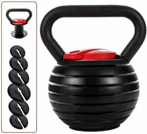 3Kg-18kg Adjustable Kettlebell Cast Iron Home Gym crossfit Fitness Kettle Bell