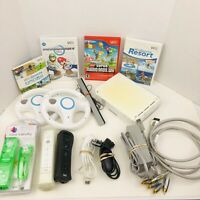 Nintendo Wii Console Mario Kart Bundle Wii Sports Sports And  Resort Wiimotes