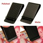 Protable Modern Carbon Fiber Money Clip Business Credit Card Cash Wallet Holder