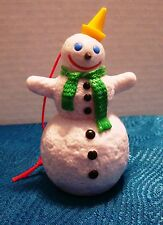 NEW VINTAGE JACK IN THE BOX RESTAURANT CHRISTMAS SNOWMAN ORNAMENT TOY!