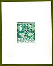 Central Africa proof of gold issue Mi 670. Space Shuttle Armtrong