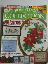 Cross Stitch Collection #85 Poinsettias Christmas Samplers Snow Winter Shaker