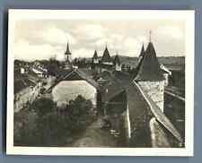 Suisse, Morat (Murten), Les Remparts et le Temple  Vintage silver print. Switzer
