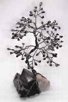 9.5 inch- gemstone tree HEMATITE gem tree SMOKY QUARTZ crystal healing Feng Shui