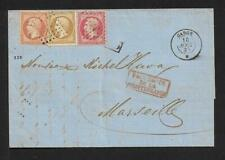 TURKEY FRENCH PO TO FRANCE COVER 1865 paquebot