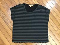 ELLEN TRACY Women's Black Beaded Top Blouse Size M