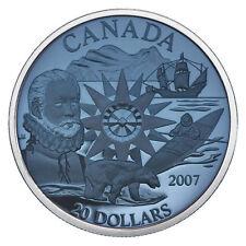 2007 PLASMA $20 Dollars International Polar Year Blue Silver Canada Coin. Scarce
