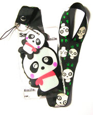 * Disney Lanyard ' Spirius Panda Smile ' Lanyard With Charm * Pass Holder * UK
