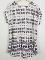 [ ALESSI ] Womens Print Blouse Top | Size L or AU 14 / US 10