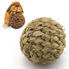 Small 10cm Pet Chew Toy Grass Ball with Bell for Rabbit Hamster Guinea Pig Rat