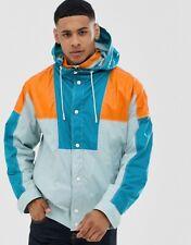 HUGO BOSS Block Coloured Hooded WATERPROOF Jacket Coat UK36 IT46 Small NEW TAGS