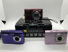 Lof of 3 digital cameras: Nikon Coolpix L24, Samsung L100, Vivitar F128 untested