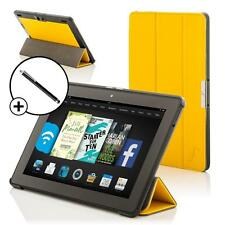 Leather Yellow Smart Folding Case for Amazon Fire HDX 8.9 Tablet + Stylus