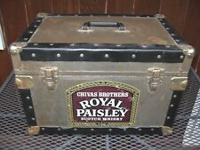 Chivas Brothers Royal Paisley Scotch Whisky Trunk Regal Whiskey Anvil Chest Box