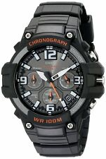 Casio MCW100H-1A Men's Resin Band Heavy Duty Sport Black Dial Chronograph Watch