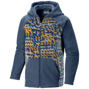 "New Boys Columbia ""Granite Mountain"" Full Zip Hooded Printed Full Zip Fleece"