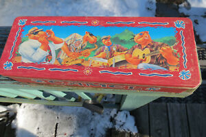 Joe Camel long tin w. 5 Club Camel lighters,new in package,band,sax,guitar,1992
