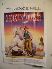 LUCKY LUKE Terrence Hill 47 by 63 French Grande Movie Poster Original 1991