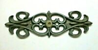 """Art Nouveau Style 1950s Drawer 6"""" Backplate For Pull Knob Dark Brass 1 Vintage"""