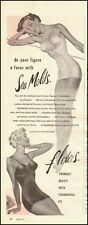 1951 Vintage ad for Sea Molds Swimsuits by Flexees`50's Fashion`Sexy (050714)