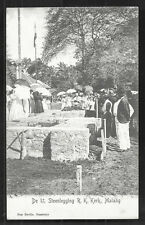 Malang First stone Church Cathedral Java Indonesia ca 1899
